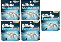 NEW Gillette Sensor Excel Refill Razor Blades - 5 Cartridges (5 Pack)
