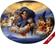 GOD THE FATHER PIERRE MIGNARD FRENCH PAINTING CHRISTIAN ART REAL CANVAS PRINT