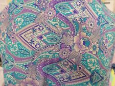 1yds print fabric good weight 4 way spandex lycra MADE IN USA J4933