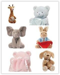 GUND Peter Rabbit Peek A Boo Bear & Twisty Tongue Twister Giraffe & Spunky Dog
