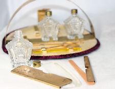 Original ANTIQUE c1900~Griffon Art Deco 10pc VanityTravel MANICURE fold-up KIT~~