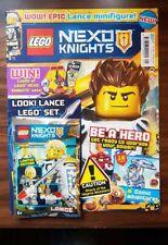 Lego Nexo Knights Magazine - Issue 1 with Lance Minifigure - New/Sealed