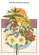 #1783-1786 First Day Ceremony Program Endangered Flora Stamps