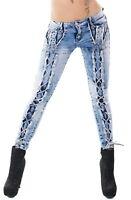 Original Denim Women's Lace-Up Front Stretch Denim Skinny Jeans - XS/S/M/L