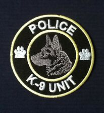 K9 K-9 UNIT POLICE TRAINING DOG GERMAN SHEPHERD ALSATAIN BADGE IRON SEW ON PATCH