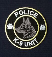 K9 K-9 UNIT POLICE TRAINING DOG GERMAN SHEPHERD ALSATAIN BADGE IRON SEW ON PATCH