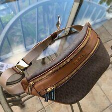 Michael Kors Women PVC Leather Fanny Pack Hip Belt Bag Waist Messenger Purse