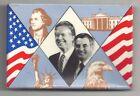 Carter & Mondale Pin ~ T Jefferson WHITE HOUSE Eagle Statue of Liberty Patriotic