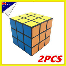 2x Melbourne Stock Magic Cube 3x3x3 Super Smooth Fast Speed Rubix Rubiks Puzzle