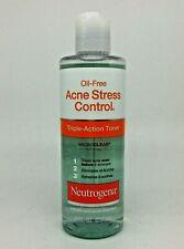 Neutrogena Oil-Free Acne Stress Control Triple-Action Toner 8oz. 10/20 NEW