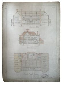 Antique (1914) Architectural Drawing Artwork