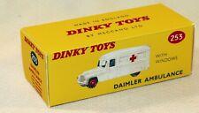DINKY TOYS 253 DAIMLER AMBULANCE BOITE COPIE VIDE