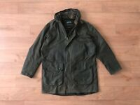 Barbour Men's A621 Wax Parka Green Waxed Hooded Coat Jacket 52 42 L Large Casual