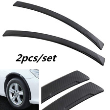 2x Carbon Fiber Sport Wheel Eyebrow Arch Lips Fender Guard Protector Strips Trim