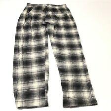 New Men's Flannel Sleep Pants Pajamas PJ Plaid Size XL Sleepwear Gray Checkered