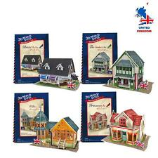 Set di 4 CUBICFUN 3D Puzzle 3D World stile Welcome to UK 3D puzzless