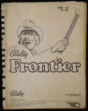 Manuel Flipper Frontier Bally Manual Pinball En anglais