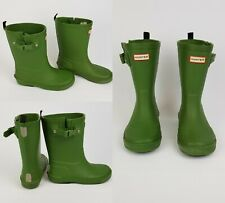 Authentic Hunter Wellies kids Size uk 12 Green Hunter Wellington Boots