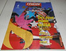 EQUIPE MAGAZINE N°747 1996 JEUX OLYMPIQUES JO ATLANTA USA OLAJUWON NIKE DOUILLET
