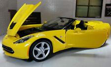 Véhicules miniatures jaunes pour Chevrolet 1:24
