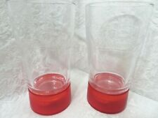 2 BUDWEISER RED LIGHT GOAL SYNC GLASSES GLASS SYNCED TO ANY NHL / NFL TEAM