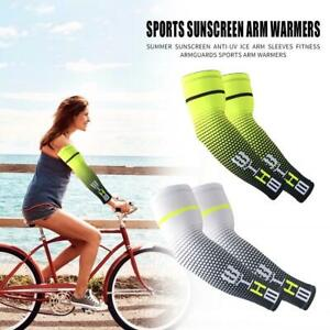 2pcs Breathable Cool Arm Sleeves UV Protection Cuff Cover Outdoor Accessories