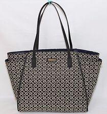 NWT TOMMY HILIFIGER Canvas Tote Medium Shopper Handbag Purse