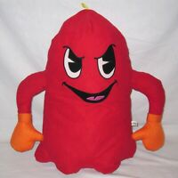 "Large 18"" Pac Man Red Ghost Shadow Blinky Plush Toy - Namco Bandai Toy Factory"
