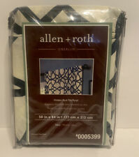 "allen + roth, 84"" Geometric Light Filtering Single 2"" Rod Pocket Curtain Panel"
