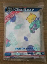 Vintage Gerber Baby CRIB MATTRESS SHEET Woodland Bear Squirrel Turtle Hedgehog