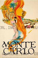 1960s Monte Carlo Rally travel advertisement racing ca 8 x 10 print prent poster