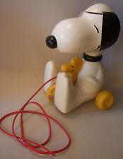 Vintage 70s Peantus Spielzeug Snoopy & Woodstock Zieh Spielzeug 1972