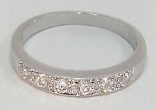 New 18ct Gold Filled Eternity Ring with Clear Gemstone 346