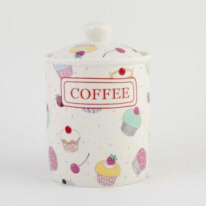 FAIRY CUPCAKE  COFFEE CANISTER / JARS FINE BONE CHINA CUPCAKES