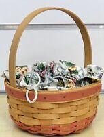 2007 Longaberger Mother/'s Day Trim A Basket Botantical Fields Liner 2343635 NIP