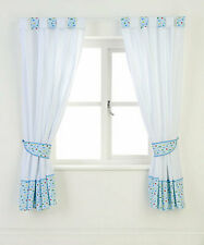 Mothercare on The Road Cars Curtains With Tie Backs W-168 X D-137cm Blue/white