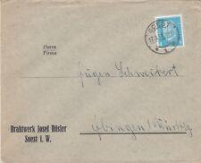 SOEST, Briefumschlag 1931, Drahtwerk Josef Rösler