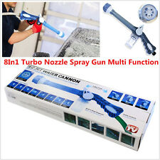 1pcs Jet Water &Soap Dispenser Cannon 8In1 Turbo Nozzle Spray Gun Multi Function