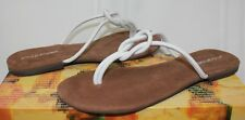 Jeffrey Campbell Malia-2 white leather knotted slip on sandals New With Box!