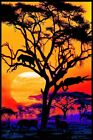 Panther Pride Non-Flocked Blacklight Poster 24x36 inches