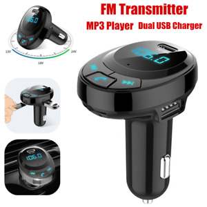 Bluetooth Wireless Car FM Transmitter Radio Adapter MP3 Player QC3.0 Car Charger