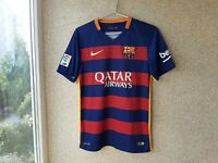 Barcelona Home football shirt 2015/2016 Jersey S Nike Soccer Camiseta Spain