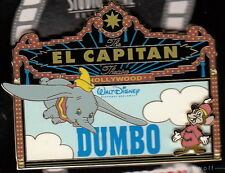 RARE DSF Disney DUMBO & TIMOTHY MOUSE MARQUEE El Capitan Theater LE 150 Pin HTF