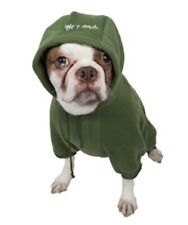 Pet Life Fashion Plush Cotton Pet Hoodie Hooded Sweater Green Size Large/20""