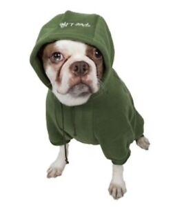 "Pet Life Fashion Plush Cotton Pet Hoodie Hooded Sweater Green Size Large/20"""