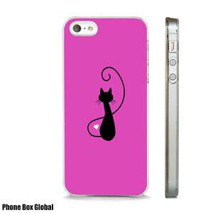 NEW BLACK CAT BRIGHT ART CUTE CASE FITS IPHONE 4 4S 5 5S 5C 6 6S 7 8 SE PLUS X S
