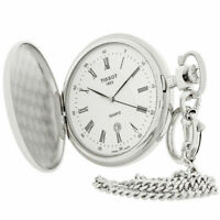Tissot Savonnettes White Dial Swiss Quartz Pocket Watch T83655313