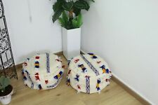 Set-of-2 Poufs Moroccan handmade/ Pouf House Round / Coushion from Kilim