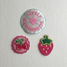 Lot of cute kawaii patches iron on sew on heart cherry strawberry japan fruits