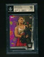 2018 Topps WWE Womens Division Ronda Rousey RC Rookie BGS 10